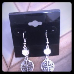 Silver style earrings love these !